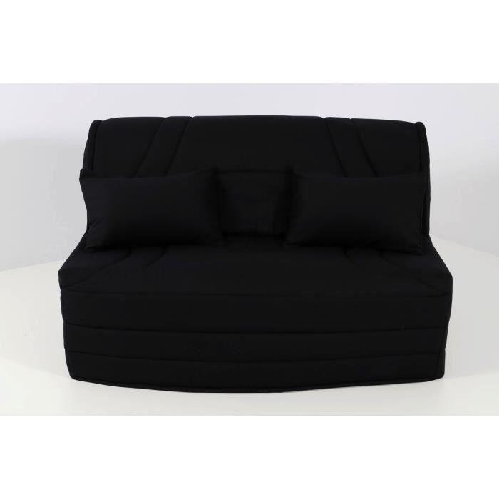 housse matelass e pour banquette bz 160 montsegur noir achat vente housse de canape soldes. Black Bedroom Furniture Sets. Home Design Ideas
