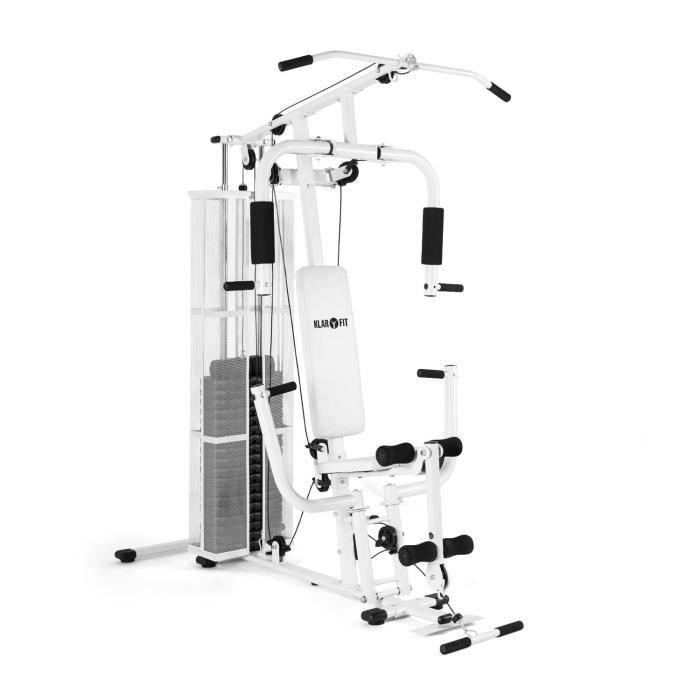 Klarfit ultimate gym 3000 station de fitness multifonctions blanche prix p - Station de musculation pas cher ...