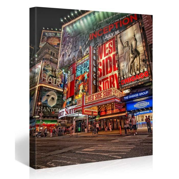 Tableau sur toile new york city 80x80cm achat vente - Tableau toile new york ...