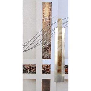 TABLEAU - TOILE CUBIC Tableau déco toile peinte à la main  30x60 c