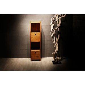 COLONNE SALLE DE BAIN  Colonne étagères 4 cases Osiris 160cm