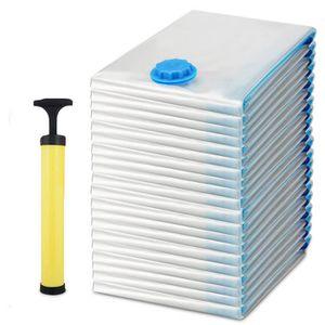 Housse sous vide rangement organisation clair avec pompe - Organisation rangement maison ...