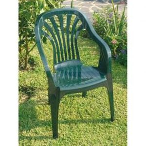 fauteuil monobloc club vert joluce sotrapa achat vente fauteuil jardin fauteuil monobloc. Black Bedroom Furniture Sets. Home Design Ideas