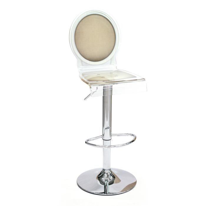 acrila tabouret de bar sixteen pied m tallique taupe. Black Bedroom Furniture Sets. Home Design Ideas