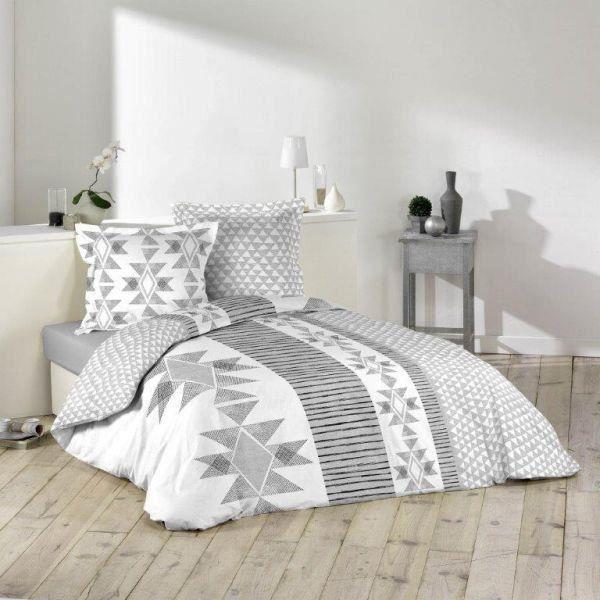 housse de couette 220x240cm 2 taies d oreiller 63x63 cm chamane di achat vente housse de. Black Bedroom Furniture Sets. Home Design Ideas