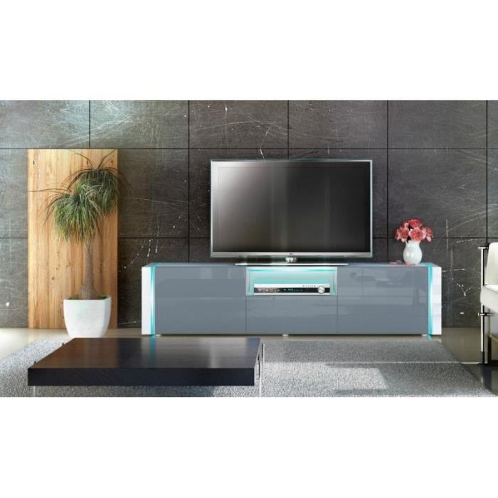 meuble tv design blanc gris 157 cm achat vente meuble tv meuble tv design blanc gris. Black Bedroom Furniture Sets. Home Design Ideas