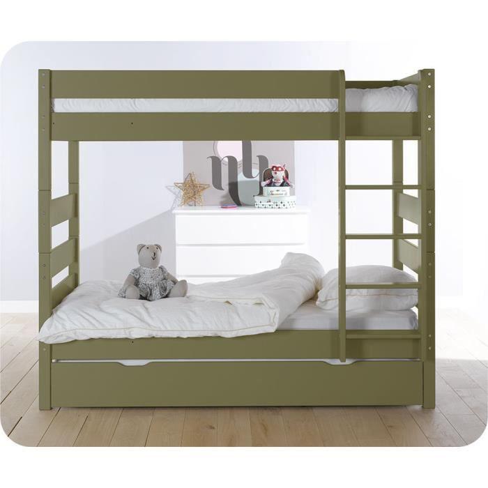 lit superpos kids olive et sommier gigogne achat vente lits superposes lit superpos kids. Black Bedroom Furniture Sets. Home Design Ideas