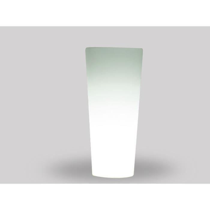 cache pot lumineux en r sine 90cm. Black Bedroom Furniture Sets. Home Design Ideas