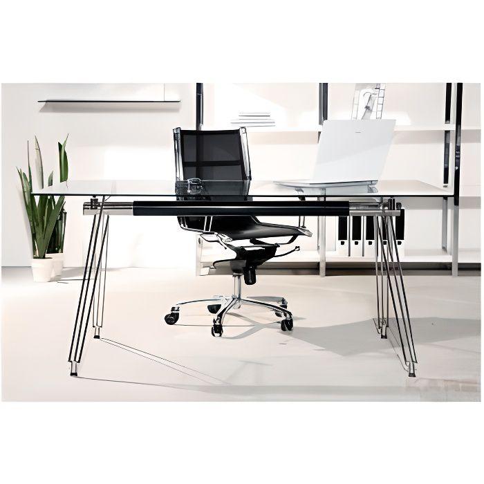 Bureau en verre officia 160x80 cm kare design achat for Bureau kare design