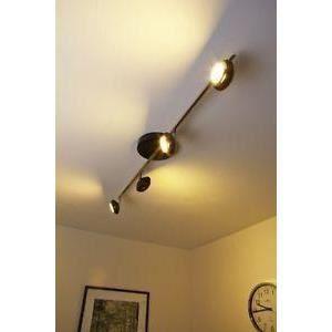 luminaire lustre lampe 4 spots sur rail plafonnier achat vente luminaire lustre lampe 4 sp. Black Bedroom Furniture Sets. Home Design Ideas