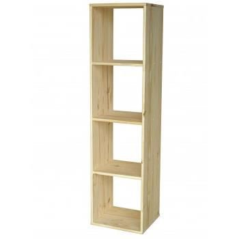 Colonne modulo 4 cases pin massif achat vente meuble for Meuble 4 cases but