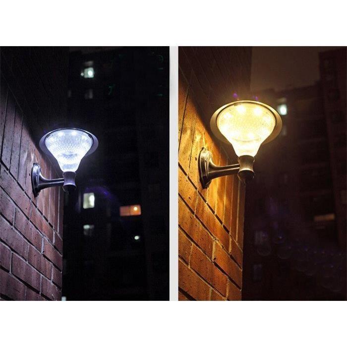 Ext rieur solaire puissance led lampe de nuit pour le for Lampe led exterieure