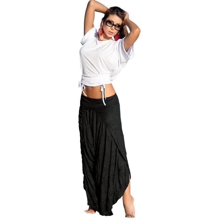 jupe sarouel haut de bikini \u0026quot;Inna\u0026quot; blanc , Une jupe longue décontractée façon sarouel accompagnée de son haut, pour des jours dété en toute légèreté!