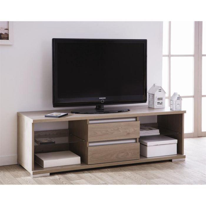 dinant banc tv 153cm coloris ch ne gris achat vente. Black Bedroom Furniture Sets. Home Design Ideas