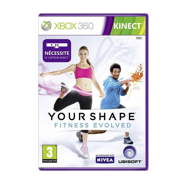your shape fitness evolved kinect xbox 360 achat. Black Bedroom Furniture Sets. Home Design Ideas