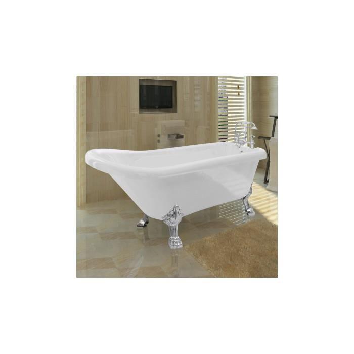 baignoire sur pieds en acrylique avec robinetterie achat. Black Bedroom Furniture Sets. Home Design Ideas