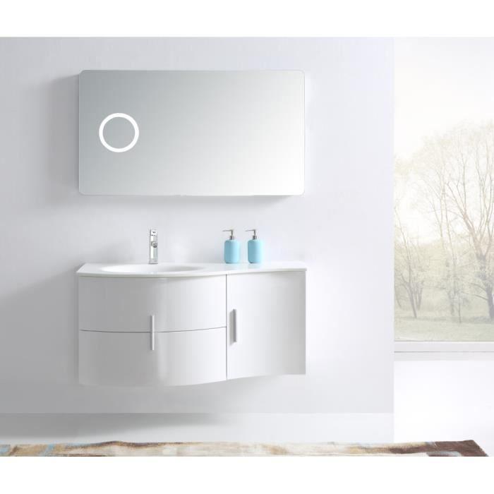 Interougehome ensemble de salle de bain en bois massif avec simple vasque c - Ensemble salle de bain bois ...