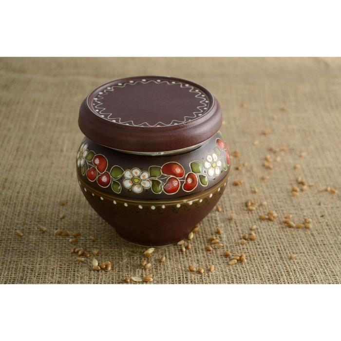 pot fait main d 39 argile pour rangement des aliments achat vente pot pices pot fait main d. Black Bedroom Furniture Sets. Home Design Ideas