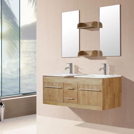 Sd931bn meuble salle de bain coloris bois naturel achat - Meuble salle de bain bois massif naturel ...