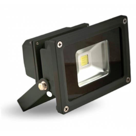 Projecteur exterieur led 10w 800 lumens ip65 fixer for Projecteur garage led