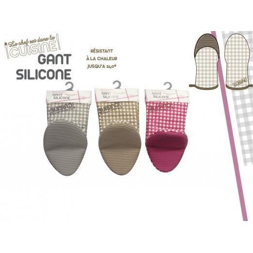 gant silicone cuisine en chef gris achat vente gants de cuisine cdiscount. Black Bedroom Furniture Sets. Home Design Ideas