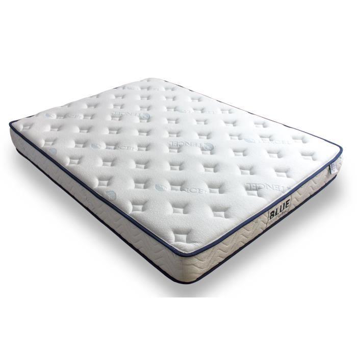 Matelas blue nano gel m moire de forme et gel frais 180x200 achat vente - Matelas 180x200 memoire de forme ...