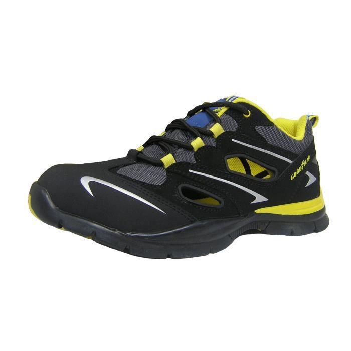 Goodyear basket de s curit trainer s1p sra hro ouverte noir noir achat vente chaussures - Chaussure de securite goodyear ...