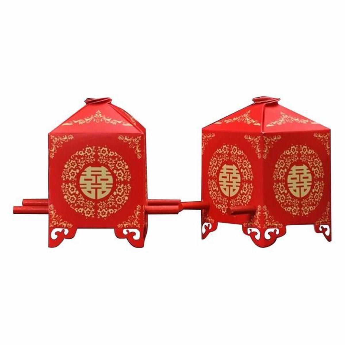 Shina 50pcs tradition rouge chinoise bridal palanquin for Maison rouge boite de nuit