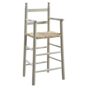 CHAISE Chaise haute enfant en bois laqué gris