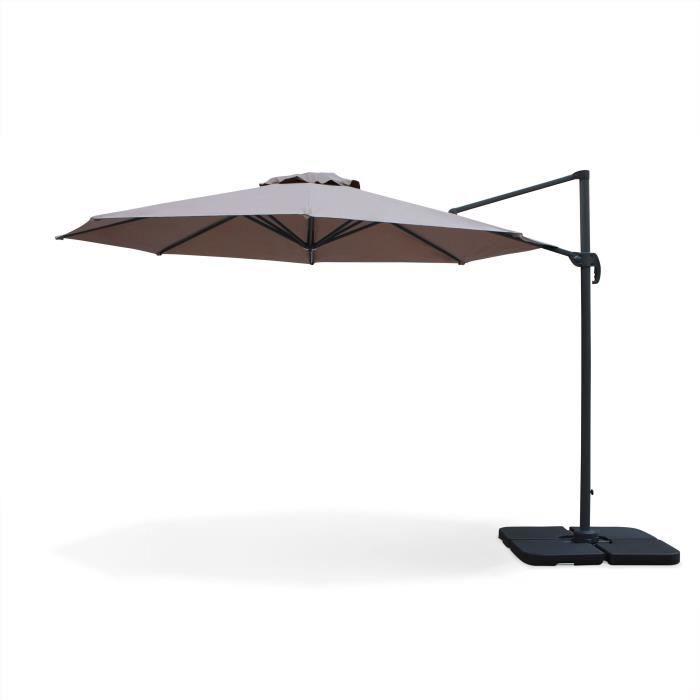 toile pour parasol deporte rond achat vente toile pour