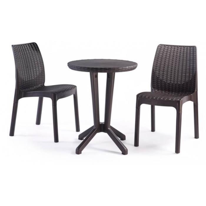 maison jardin plein air salon de en resine  chaises et table bistr f art