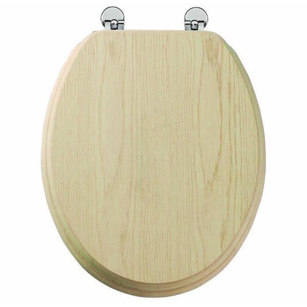 abattant de toilette en bois chene clair mdf charniere metal siege wc standard achat vente. Black Bedroom Furniture Sets. Home Design Ideas