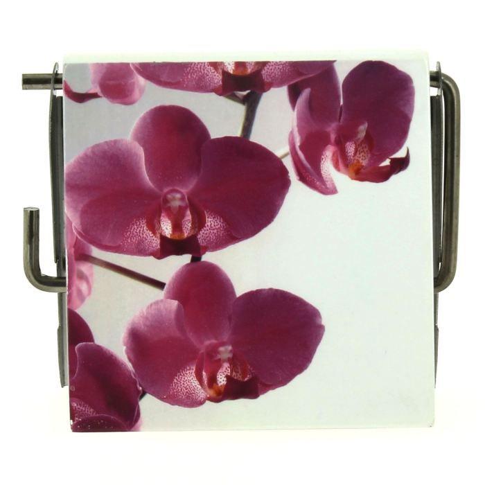 derouleur papier wc orchidee achat vente serviteur wc cdiscount. Black Bedroom Furniture Sets. Home Design Ideas