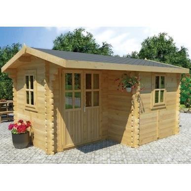 Abri de jardin alpina plus 5x4m 44mm achat vente for Abris de jardin surface taxable