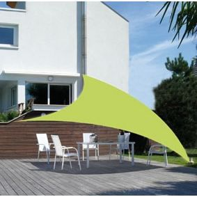 Voile d ombrage anis achat vente parasol ombrage - Voile d ombrage terrasse ...