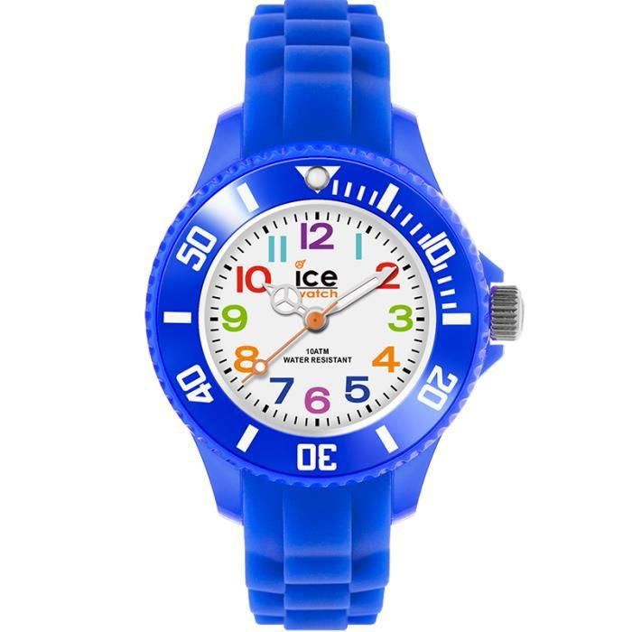 montre ice watch ice mini bleu bracelet silicon bleu. Black Bedroom Furniture Sets. Home Design Ideas