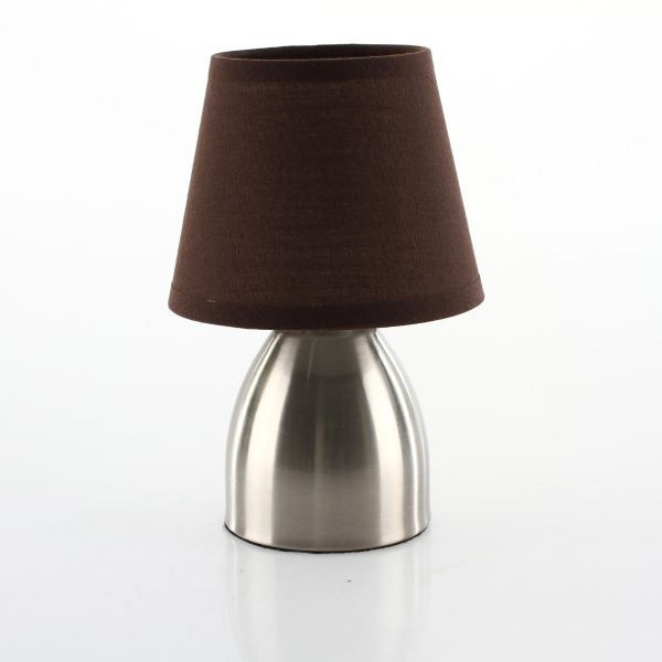 Lampe de chevet one touch coloris taupe achat vente lampe d - Lampe de chevet touch ...