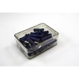 CARTEC 50 cosses. Mâle+femelle/rondes/isolées bleu