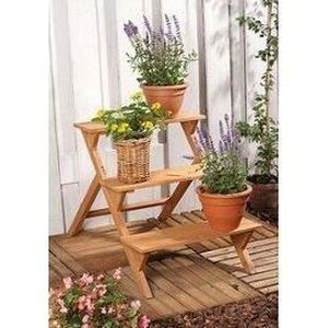 Etagere bois support decoration fleur jardin plant achat for Achat plante jardin