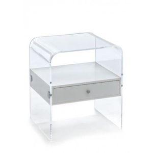 table de chevet transparent achat vente table de chevet transparent pas cher cdiscount. Black Bedroom Furniture Sets. Home Design Ideas