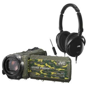 CAMÉSCOPE NUMÉRIQUE Pack JVC QUAD PROOF GZ-R415 Caméscope numérique +