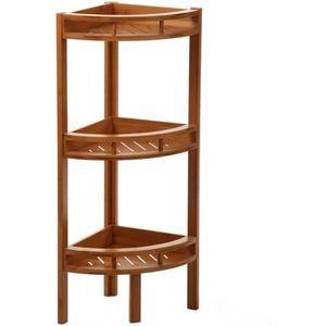 Étagère d angle Bambou 3 niveaux - Hauteur 85 cm