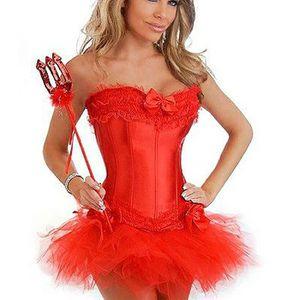 CALEÇON Femmes Sexy magnifique Burlesque Corset & Costume