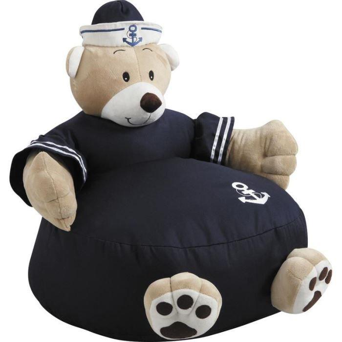 fauteuil pouf ourson en coton et peluche 50x50x achat vente fauteuil coton cdiscount. Black Bedroom Furniture Sets. Home Design Ideas