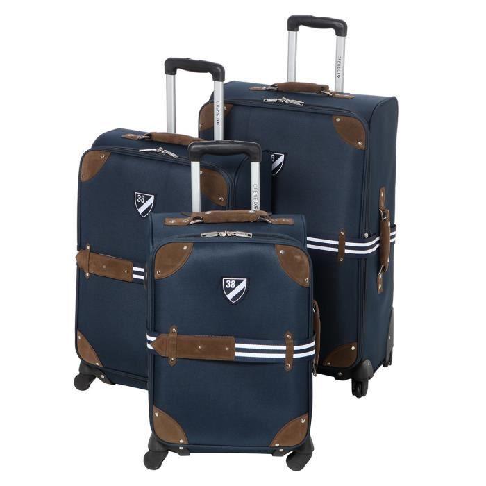 daniel cremieux ensemble de 3 valises chariot marine achat vente set de valises. Black Bedroom Furniture Sets. Home Design Ideas
