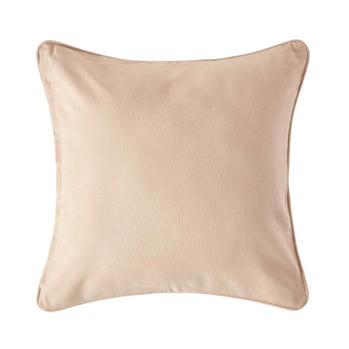 Coussin d houssable beige 45 x 45 cm achat vente - Housse de coussin 45 x 45 ...