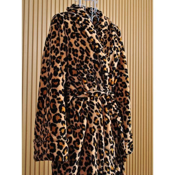 Peignoir l opard d heska polaire femme achat vente peignoir cdiscount - Robe de chambre femme leclerc ...