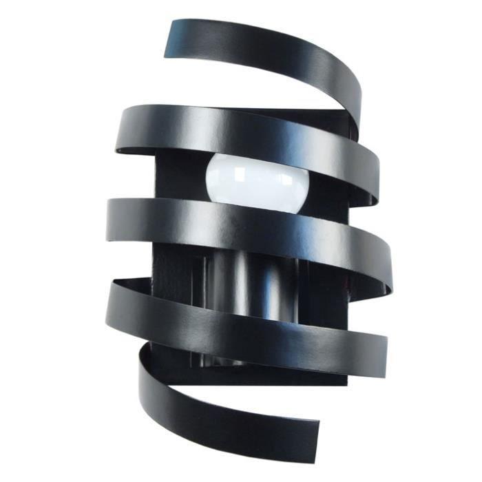 Applique murale spirale en m tal hauteur 9 5 cm barber - Applique murale metal noir ...