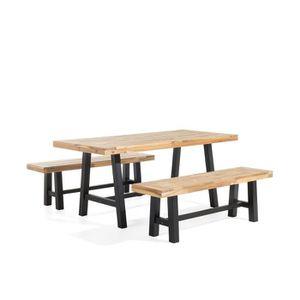 Table et chaises de jardin en acacia achat vente table et chaises de jardin en acacia pas for Entretien d un salon de jardin en acacia