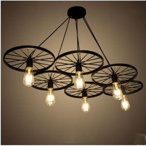lustre en fer noir achat vente lustre en fer noir pas cher cdiscount. Black Bedroom Furniture Sets. Home Design Ideas